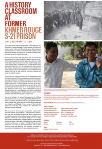 A HISTORY CLASSROOM FORUM AT FORMER KHMER ROUGE S-21 PRISON (2012)